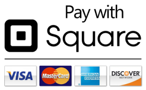 Pay with Visa, Mastercard, American Express, Discover using Square
